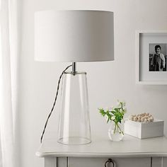Hollow glass based lamp, v cool. Bowery Table Lamp | The White Company