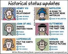 Historical status updates | Wrong Hands – Cartoons by John Atkinson (5•5•2017)