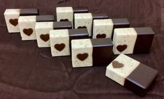 After all the business of the holidays, I wanted to take a simple approach to my soaps and yet still do a bit for Valentine's Day. So I went with some embed soaps, using four Heart tube molds and o… Soap Recipes, Home Made Soap, Goat Milk, Handmade Soaps, Bar Soap, Valentines Day, Chocolate, Simple, Natural Soaps
