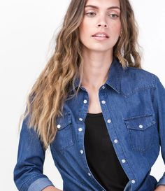 Camisa Feminina em Jeans - Lojas Renner
