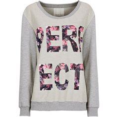 Lockeres Sweatshirt mit Frontdruck ($1,795) ❤ liked on Polyvore featuring tops, hoodies, sweatshirts and rainbow sweatshirt