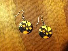 Upcycled Beatles Button Earrings by SantaCruzSeraph on Etsy