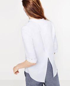 BASIC POPLIN SHIRT-Shirts-TOPS-WOMAN   ZARA United States