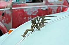 Great hood ornament VW Emblem Lady..Re- pin brought to you by #AgentsofcarIns at #HouseofInsurance #Eugene,Oregon
