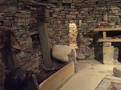 Neolithic Pagan stone house at Skara Brae, Scotland.