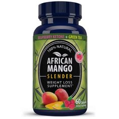 """Dr.Oz"" -- Recommended 100% Pure African Mango & Raspberry Ketone ""Diet Superblend"". Burn Fat & Get Lean Without... $39.96"