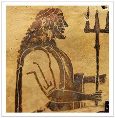 Poseidon holding a trident. From Penteskouphia. Poseidon Penteskouphia Louvre - Poseidon - Wikipedia, the free encyclopedia Ancient Greek Art, Ancient Greece, Ancient History, Images Google, Bing Images, Poseidon Trident, Homer Odyssey, Roman Gods, Art Antique