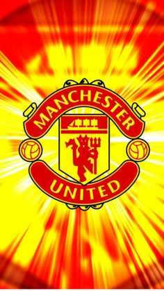 Apple iPhone 6 Plus HD Wallpaper - Manchester United in with red and yellow background #appleiphone6plus #appleiphone6wallpaper #iphone6plus #manchesterunited #manchesterunitedlogo #MUFCwallpaper #manchesterunitedwallpaper