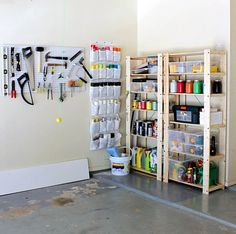 spraypaint storage Hi Sugarplum | Organized Garage by hi sugarplum!, via Flickr