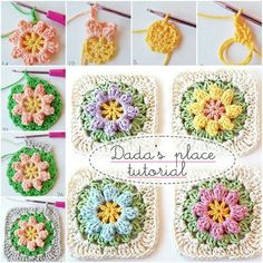 Granny Square Tutorial http://dada4you.blogspot.com.au/2014/03/primavera-flowers-granny-square-tutorial.html?m=1