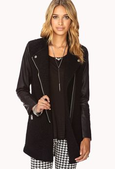 Contemporary Cool-Girl Biker Coat