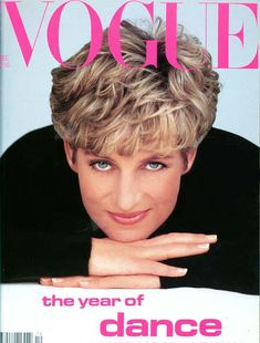 Princess Diana on the cover of Vogue in December 1991