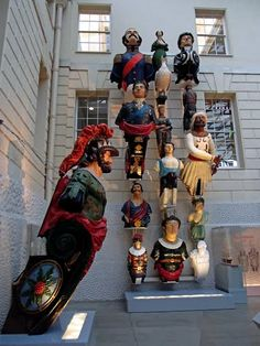 Ship's figureheads at the National Maritime Museum, Greenwich,England