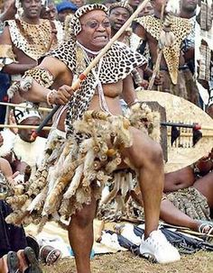 South African President Jacob Zuma is a Zulu. Here he dances in traditional dress