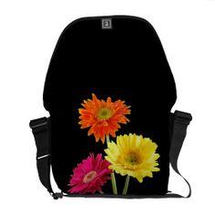 Gerbera Daisy Delight Messenger Bags
