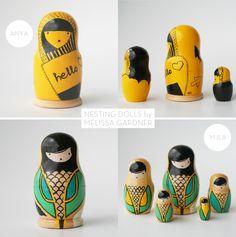 modern nesting dolls by Nushka (Melissa Gardner)