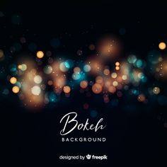 Creative blurred bokeh background concept Free Vector