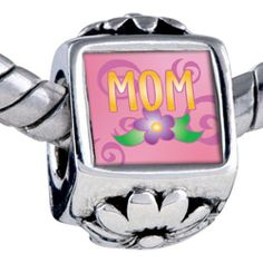 Pugster Mom Flower Beads Fits Pandora Bracelet Pugster. $12.49. Hole size is approximately 4.8 to 5mm. It's the photo on the flower charm. Bracelet sold separately. Unthreaded European story bracelet design. Fit Pandora, Biagi, and Chamilia Charm Bead Bracelets
