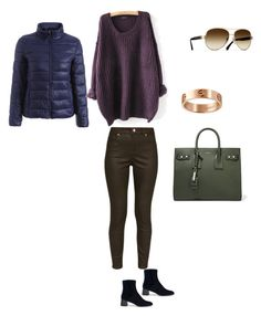 """""""Родственные оттенки"""" by katerina-tolochko on Polyvore featuring мода, Ted Baker, Yves Saint Laurent, Chanel и Cartier"""