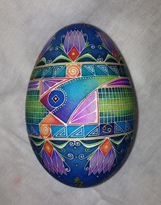 batik goose egg 3 fish design