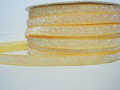 Craft supplies and Handmade Tassels by ichimylove Bulk Ribbon, Wholesale Ribbon, Yellow Glitter, How To Make Headbands, Glitter Ribbon, Purse Handles, Pom Pom Trim, Velvet Ribbon, Bright Yellow