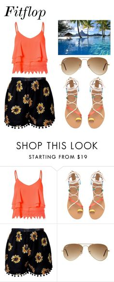"""""""Summer"""" by annedenmark on Polyvore featuring Glamorous, Ray-Ban and Bora Bora"""