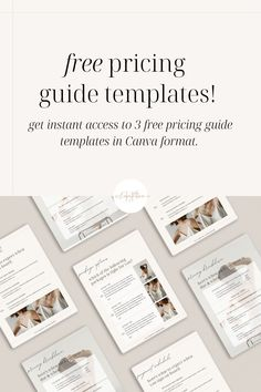 Looking to make your business look more professional and on brand? Grab these FREE pricing guide templates for Canva! They will wow your customers and help you seamless onboard clients. Business Checks, Business Look, Starting Your Own Business, Social Media Template, Business Management, Website Template, Content Marketing, Entrepreneurship, Helpful Hints
