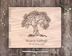 Wood Guest Book, Wooden Wedding Guest Book, Tree Guest Book, Custom Guest Book Wood, Unique Guest Book Tree Rustic Guest Book Personalized