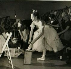 "In 1953 #youngjulieandrews toured for 3 month in a revue called ""Cap and Belles"", singing as well as dancing with the elaborately costumed corps de ballet. The show played Brighton, Birmingham and Glasgow."