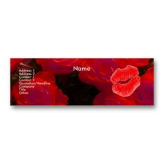 Yves Creations Red Roses I Profile Card Business Card Templates  The Make-up Artist Profile Card has a beautiful and a professional look. It is a perfect card to give to all of your clients!