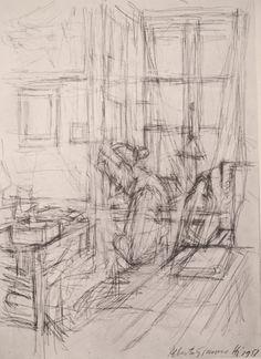 Giacometti, gesture drawing still life, organizational line drawing Gesture Drawing, Line Drawing, Drawing Sketches, Painting & Drawing, Drawing Tips, Sketching, Alberto Giacometti, Cartoon Drawings, Art Drawings