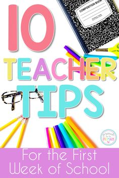 is a MUST READ! 10 teacher tips for the first week of school that will help teachers have fun, while saving time and energy. Tons of back to school classroom ideas and organization inspiration for elementary school teachers. New Teachers, Elementary Teacher, School Teacher, Elementary Schools, Back To School Hacks, Back To School Activities, School Resources, School Ideas, School Tips