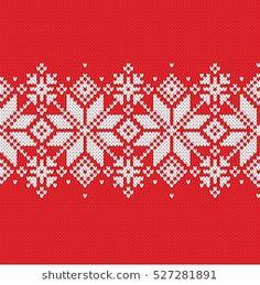 Xmas Cross Stitch, Cross Stitch Borders, Cross Stitch Flowers, Cross Stitch Embroidery, Cross Stitch Patterns, Knitting Charts, Knitting Stitches, Knitting Designs, Red Tablecloth
