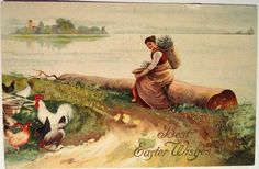 Vintage Easter Postcard | par riptheskull