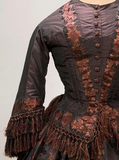 Figured silk day dress, 1855 | In the Swan's Shadow