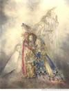 magical art books from Sulamith Wulfing with healing images of angels, mermaids, butterflies & the elfin realm