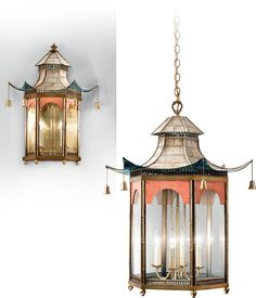 Pagoda, Chinoiserie Mid 18th Century, Lanterns, Lighting Collection, Christopher Hyde Lighting - Lighting for Prestige Interiors