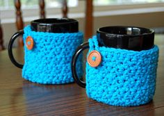 The Hippy Hooker free mug cozy and can cozy patterns!