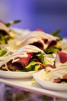 Roast Beef Salad   Start your meal off properly with this tasty salad. Topped with a slice of roast beef, this small salad packs a large bite.