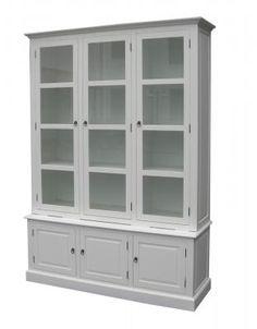 Vita möbler, Vitrinskåp, Bokhyllor - Alezzi vit - Möbelgrossen