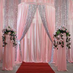 Mariage props fond cadre semi - cirle cérémonie pavillon 1.5 - 3 metros rétractable