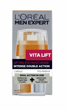 Men Expert Vita Lift Eye Double Lifting Effect - L'Oreal - Men Expert - Eye Care - 15ml/0.5oz by L'Oreal - Men Expert - Eye Care. Save 15 Off!. $16.49. 15ml/0.5oz. A dual-action revitalizing eye treatment for men Combines two complementary formulae in one action The tensing gel is enriched with Latexyl Helps create a flexible & resistant film on skin to lift eye contours Minimizes appearance of under-eye bags The silky cream is concentrated with Pro-Retinol Fills in noticeable wrinkl...