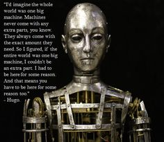 Great quote from the movie Hugo