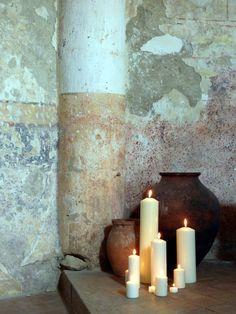 Church candles...
