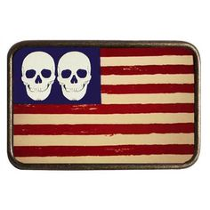 2df741fcd9df Skull USA Flag Belt Buckle - Graphic - Buckles   BeltBuckle.com Usa Flag,