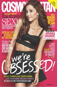Ariana Grande on the cover of Cosmo's February 2014 issue.