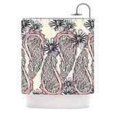Found it at AllModern - Inky Paisley Bloom Polyester Shower Curtain
