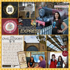 Layout by Heather. Diagon Alley in Wizarding World of Harry Potter at Universal Studios in Orlando. Project Mouse (Wizarding): Bundle by Britt-ish Designs & Sahlin Studio. Boo - Oct 16 MYIP Template by Britt-ish Designs.