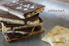 #sweet & salty #chocolate #bark made with saltine #crackers on www.CherylStyle.com