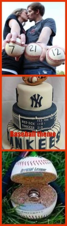 baseball wedding - I know someone who would love this ! This but with the yankees cake>>>